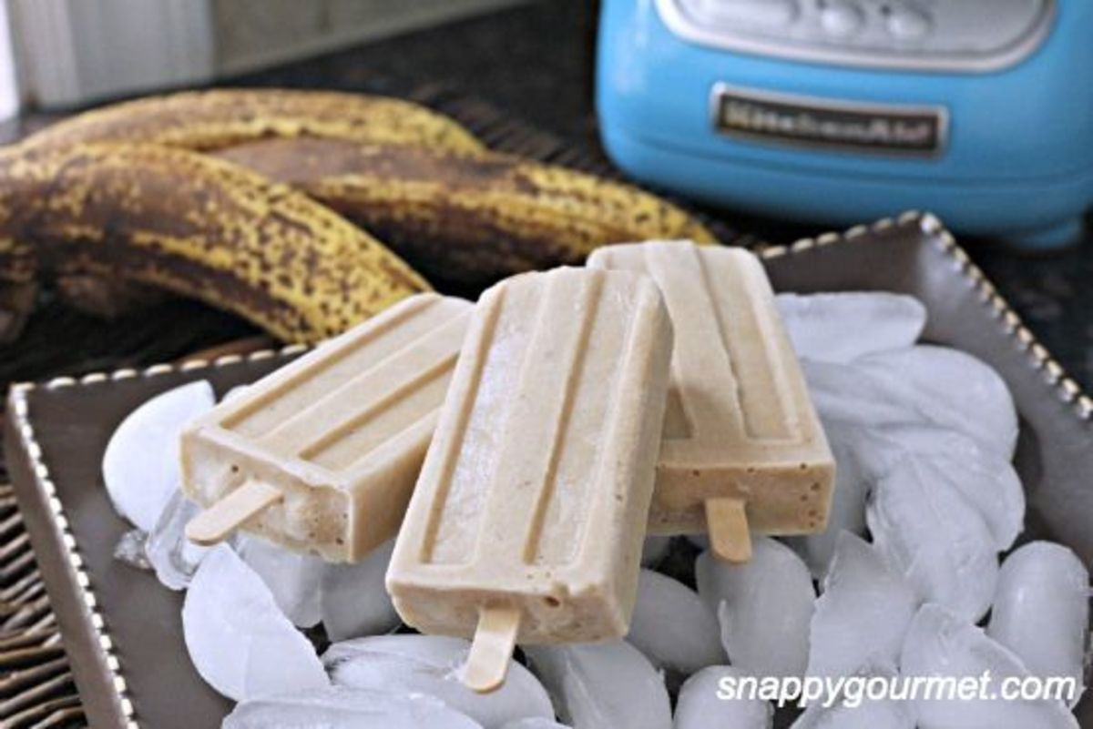 Bananas Foster Popsicles | Snappy Gourmet