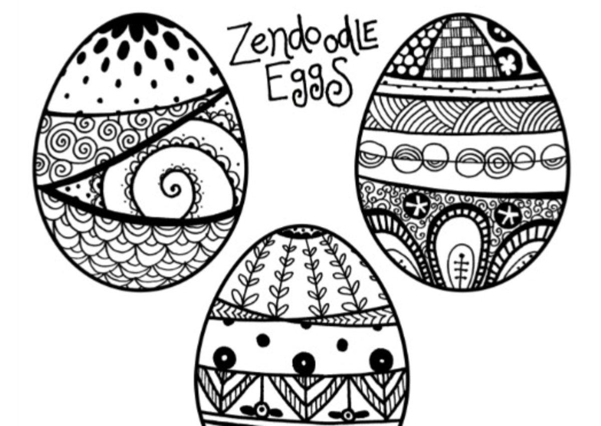 Zendoodle Easter Egg Coloring Pages