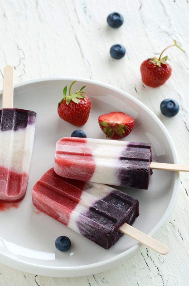 Double Berry Coconut Pops | An Edible Mosaic