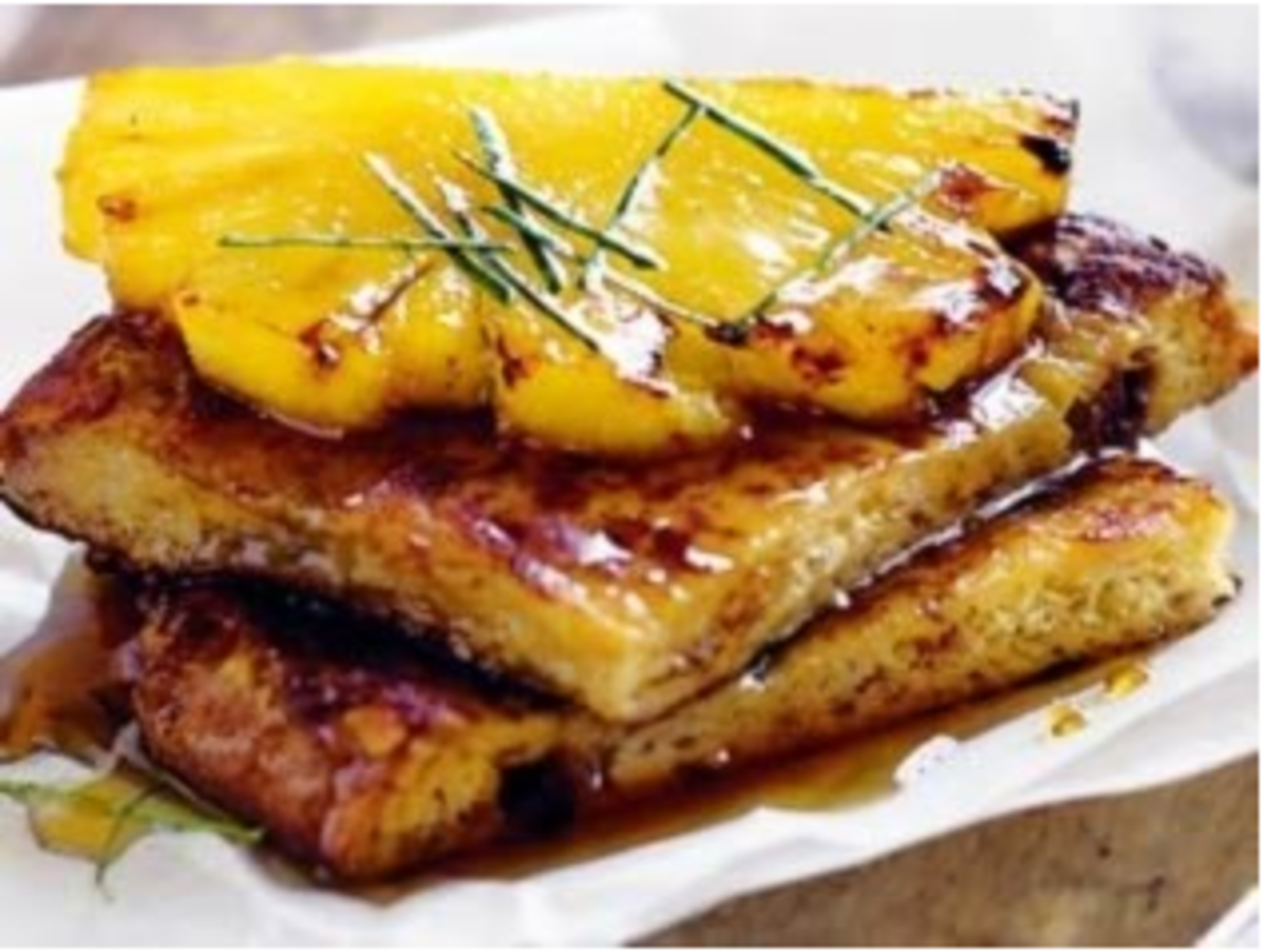 Coconut French Toast Recipe with Caramelized Pineapple
