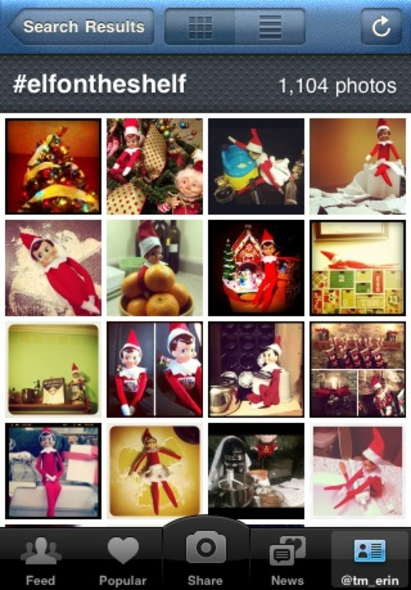 elf on the shelf instagram