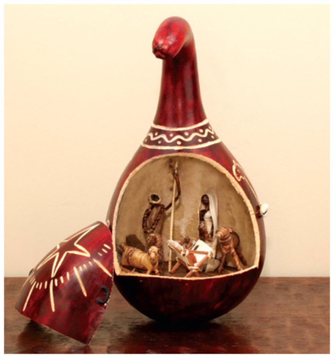 Kenyan Gourd Nativity