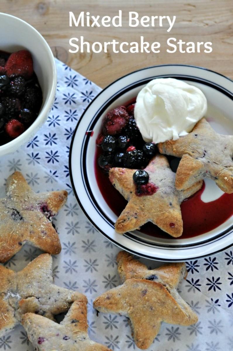 Mixed Berry Shortcake Stars - TodaysMama.com