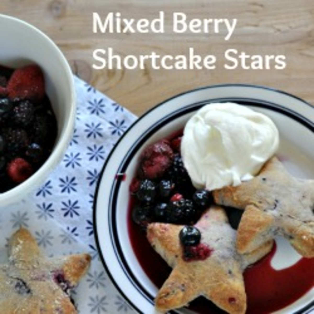 Mixed Berry Shortcake Stars Featured