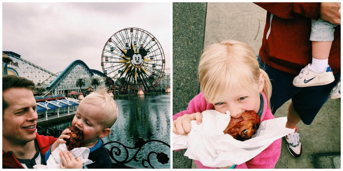 Disneyland Preschool Turkey leg collage
