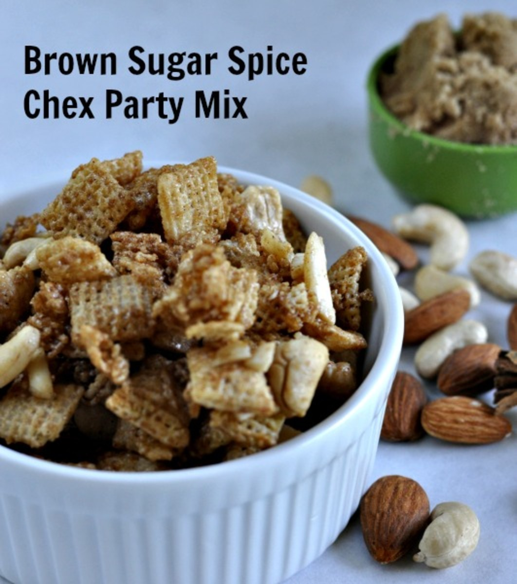 Brown Sugar Spice Chex Party Mix - Title