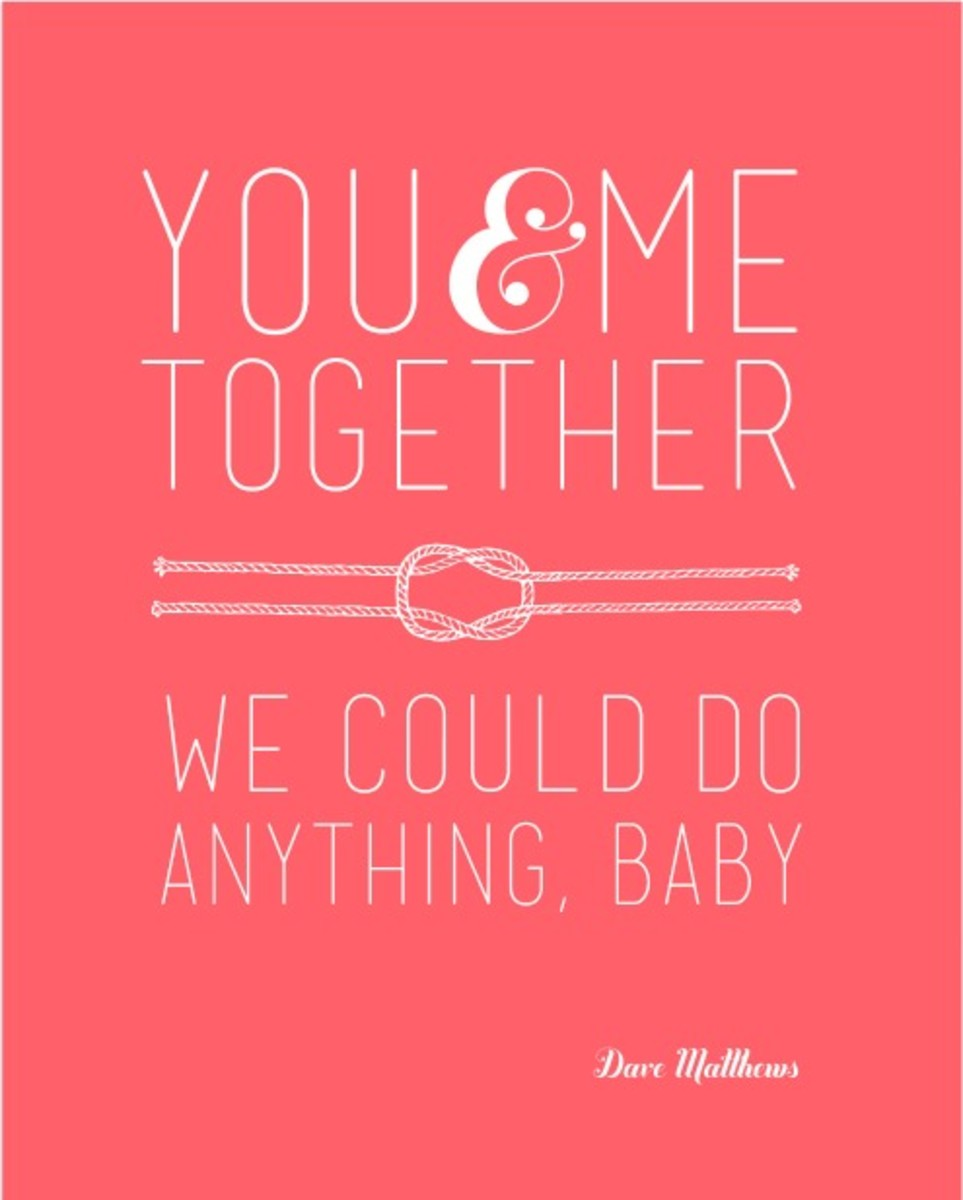 You and Me DMB Valentine Quote in Coral_xs