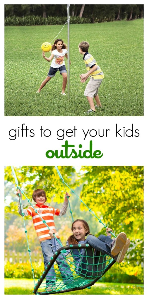 Great gift ideas to get your kids outside! (electronics free zone!)