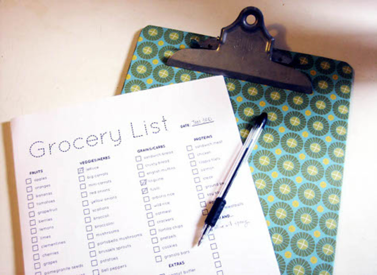 Grocery Shopping List by Design Sponge
