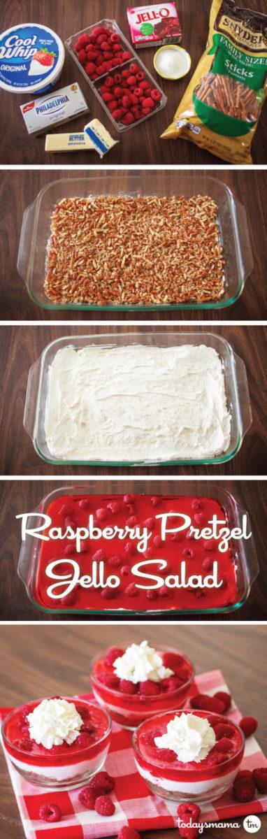 Raspberry Pretzel Jell-O Salad
