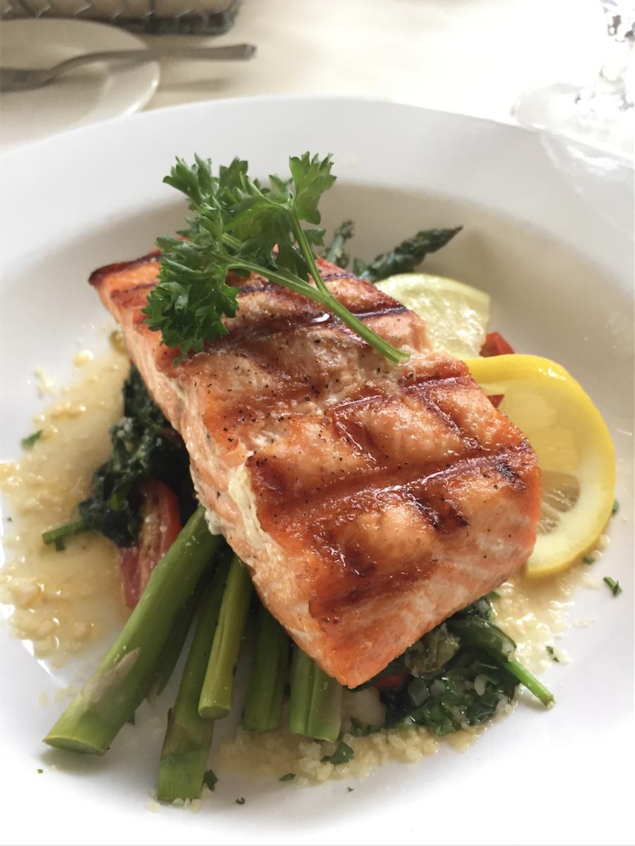 Salmon at the Blue Boar Inn