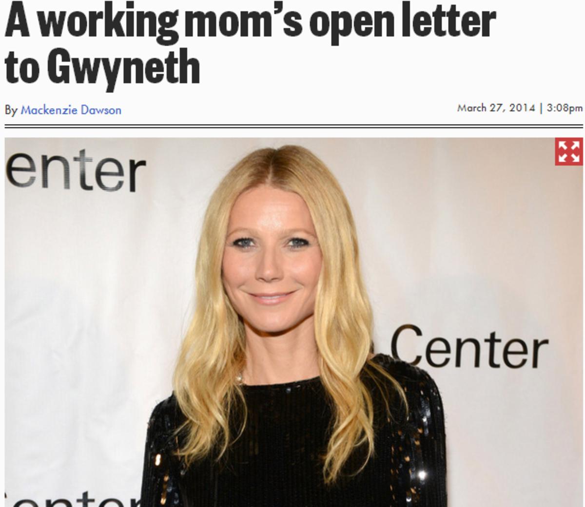 """Gwyneth Paltrow Says Her Job Is Harder Than Being A """"Regular Working Mom"""" www.TodaysMama.com"""