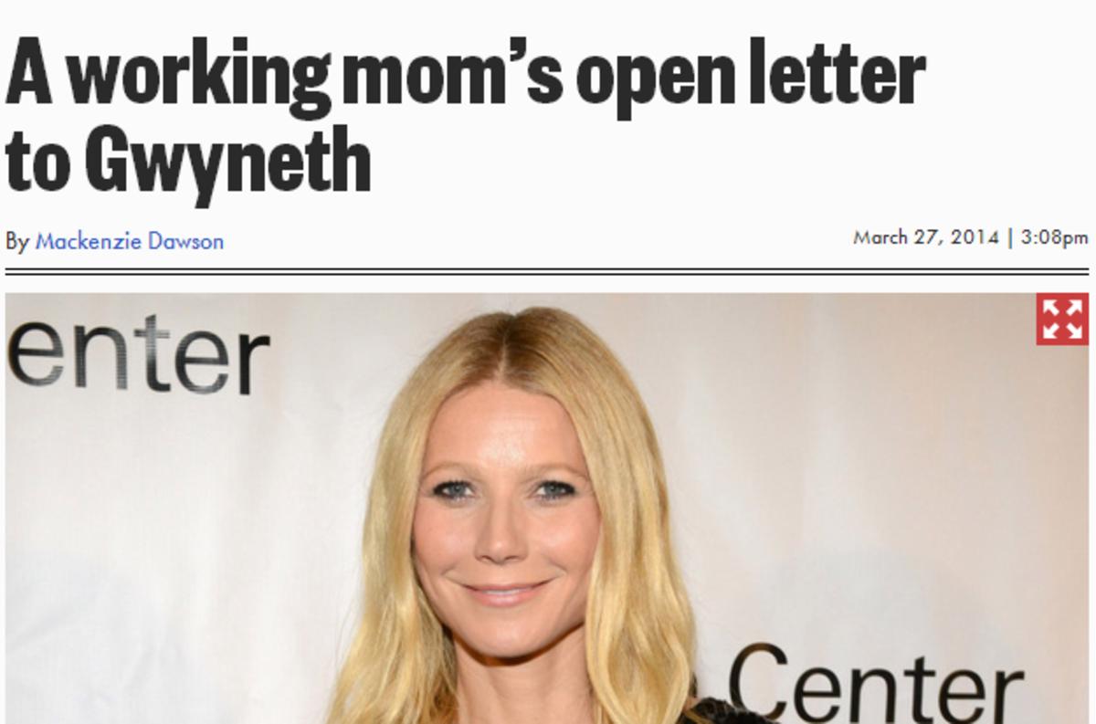 Gwyneth Paltrow Says Her Job Is Harder Than Being A Regular Working Mom www.TodaysMama.com