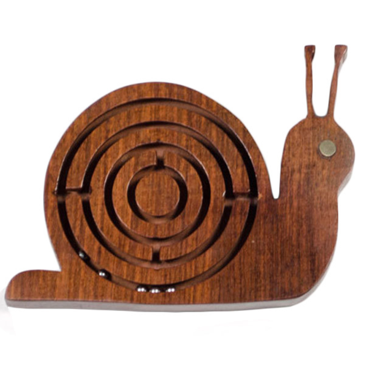 Wooden Snail Labrynth Game