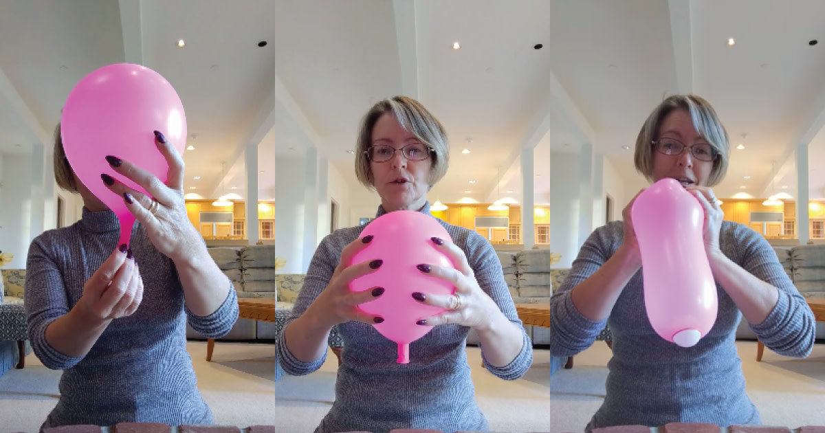 balloon uterus birth labor simulation video demonstration with ping pong ball