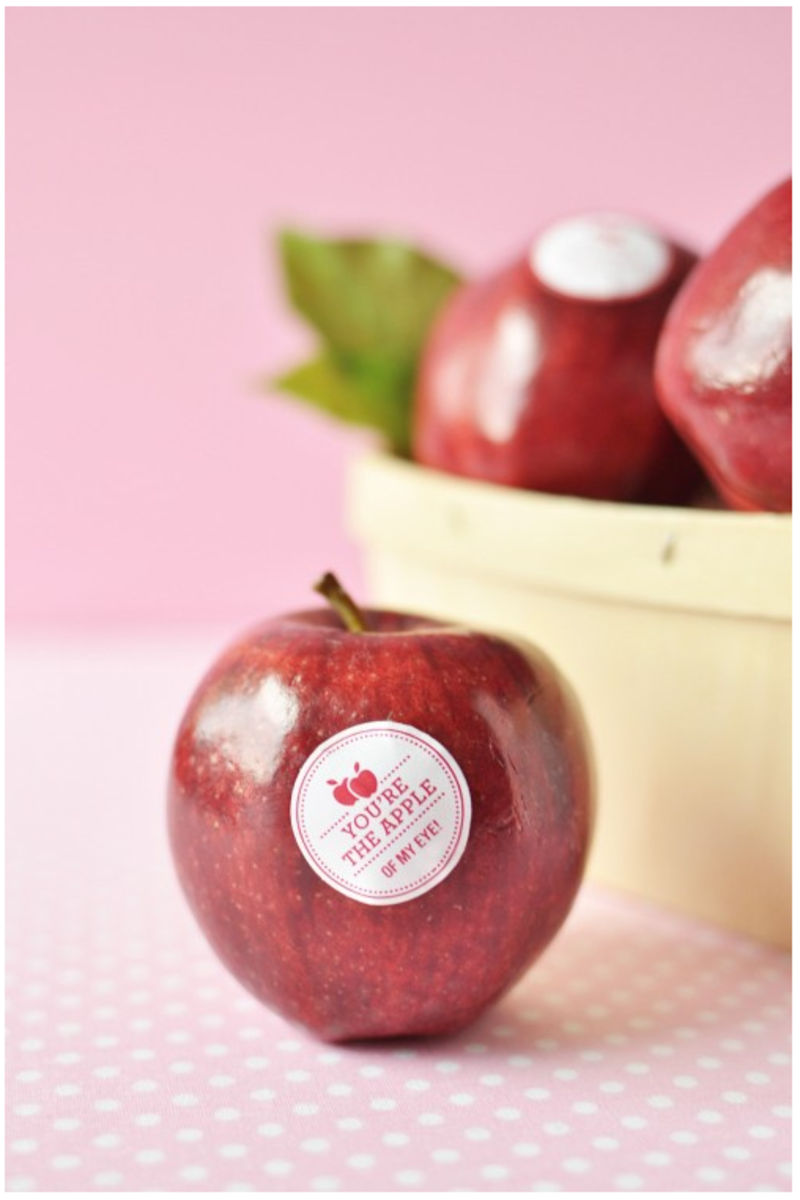 healthy valentines printable fruit stickers
