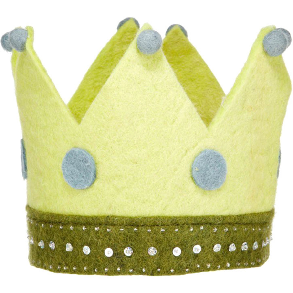 Green Felted Crown From Denmark