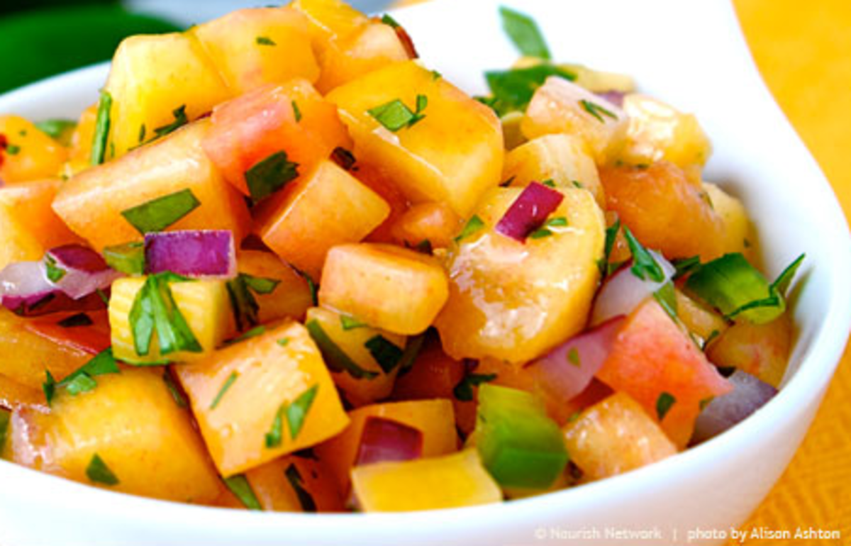 Fiery Sweet Peach Salsa