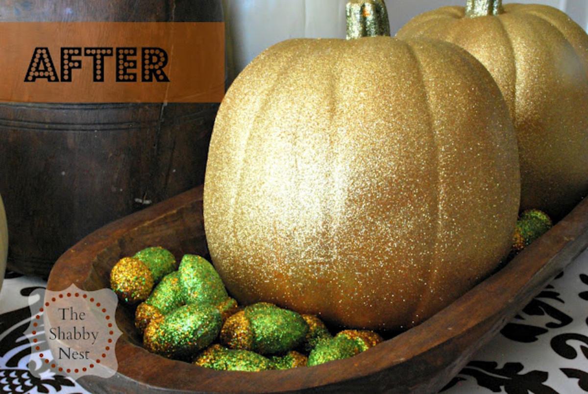 Easy Glitter Pumpkins