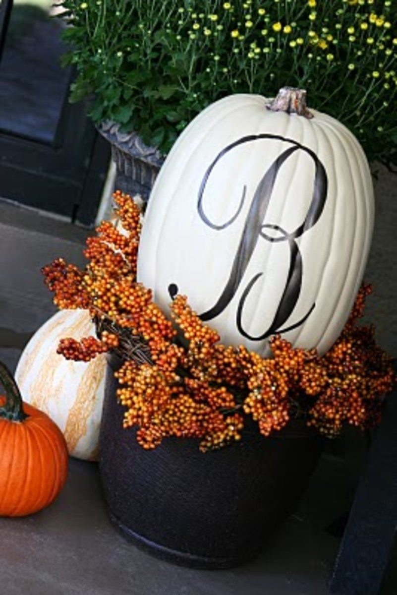 monogram pumpkin tutorial