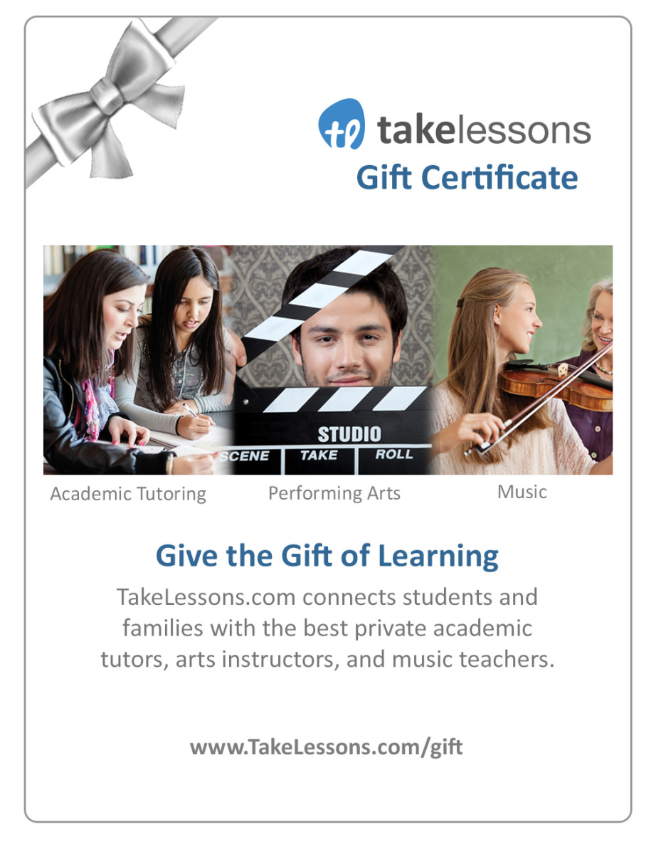 2013 Holiday Gift Guide - Hard to Shop for People - TakeLessons Gift Card - TodaysMama.com