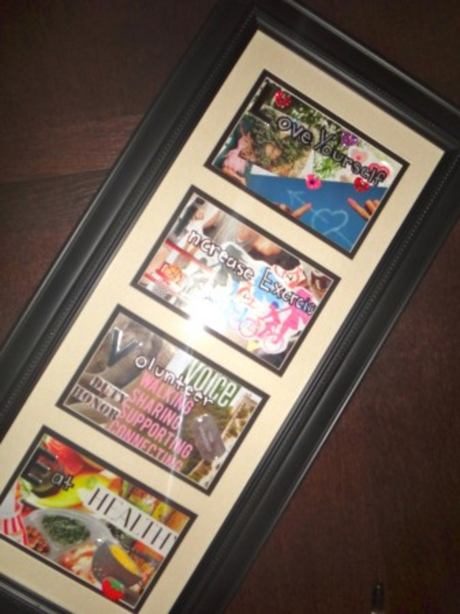 Framed New Year Resolutions
