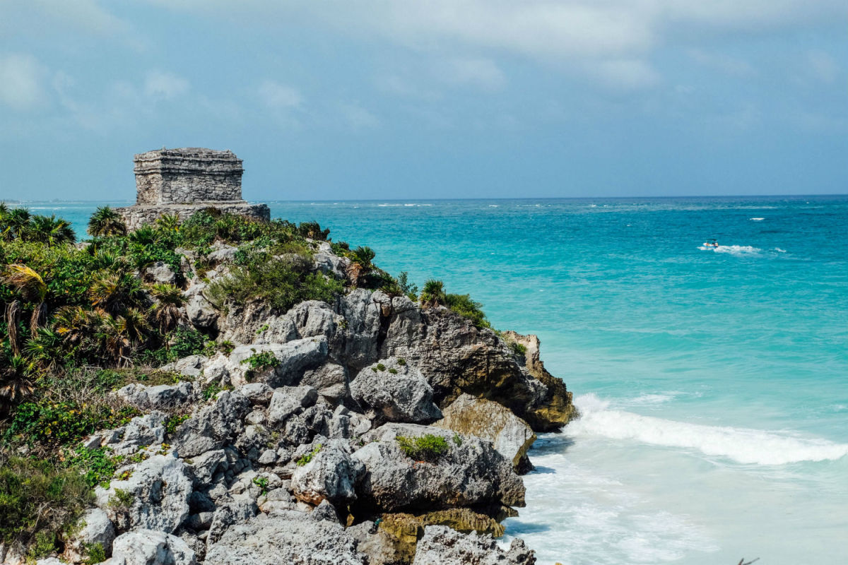 Plan a day trip to Tulum and explore Mayan ruins. (Photo: Michelle Rae Uy )