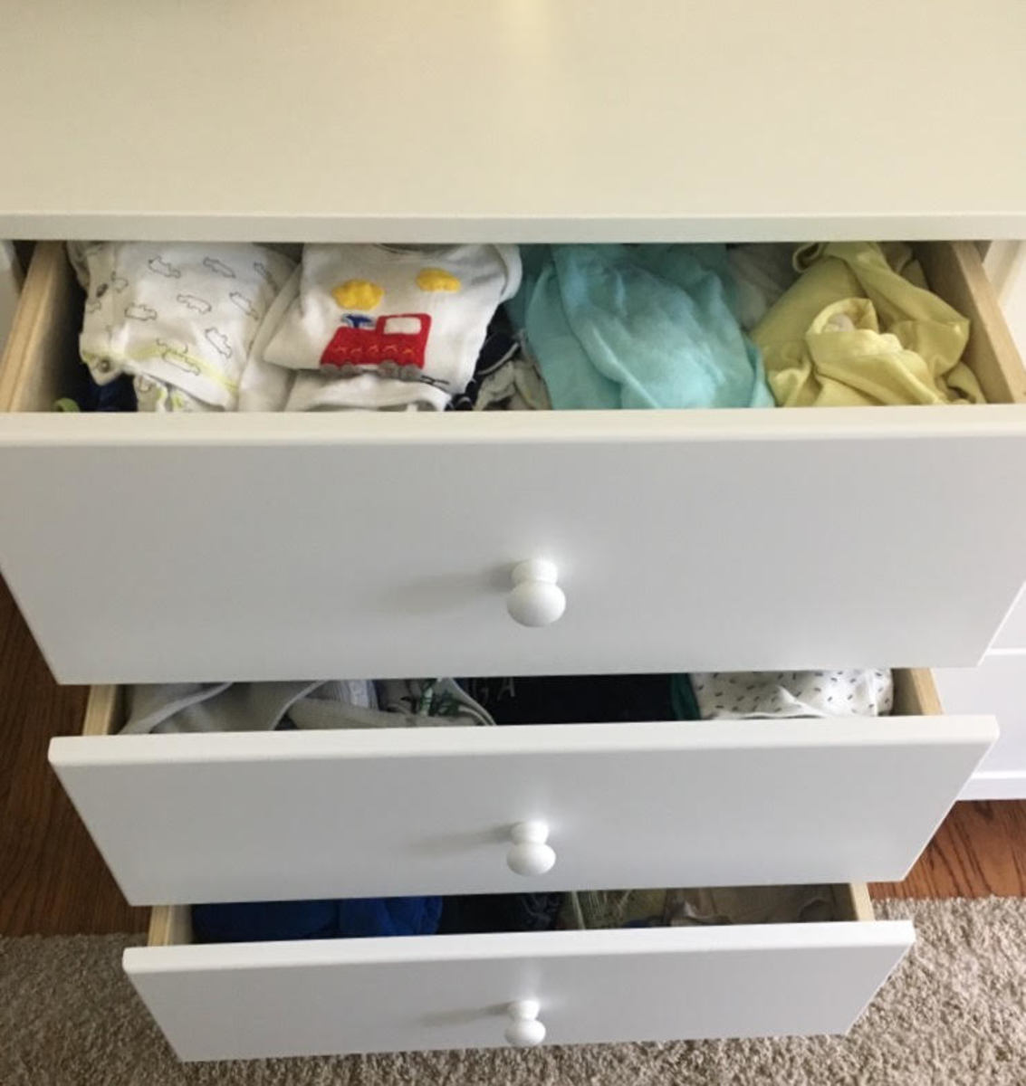 Davinci Carters review- drawer clothes