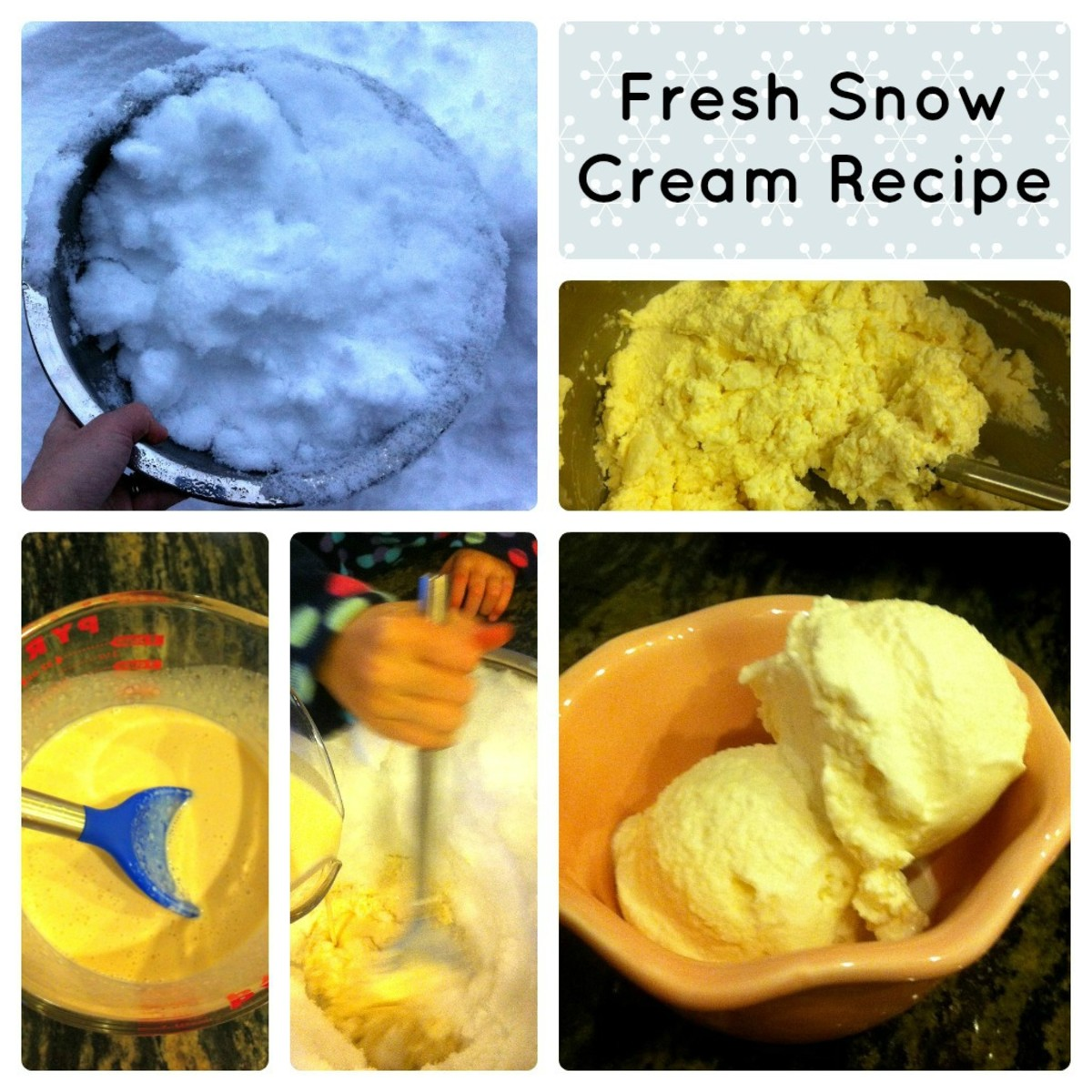 Fresh Snow Cream Step by Step