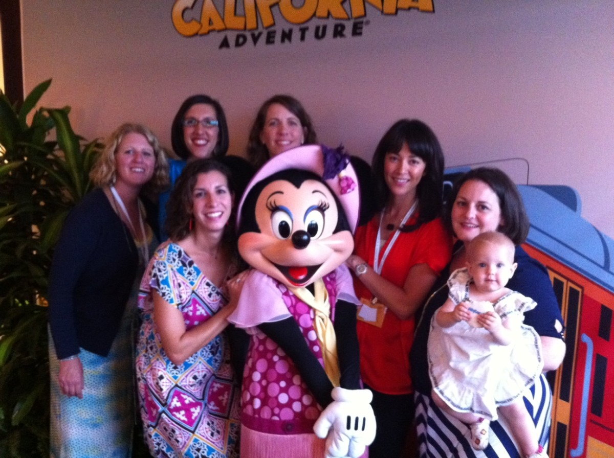 Back: Lindsey, Erin, Amy.  Front: me, Minnie, BreAnne, Carina, Lulu