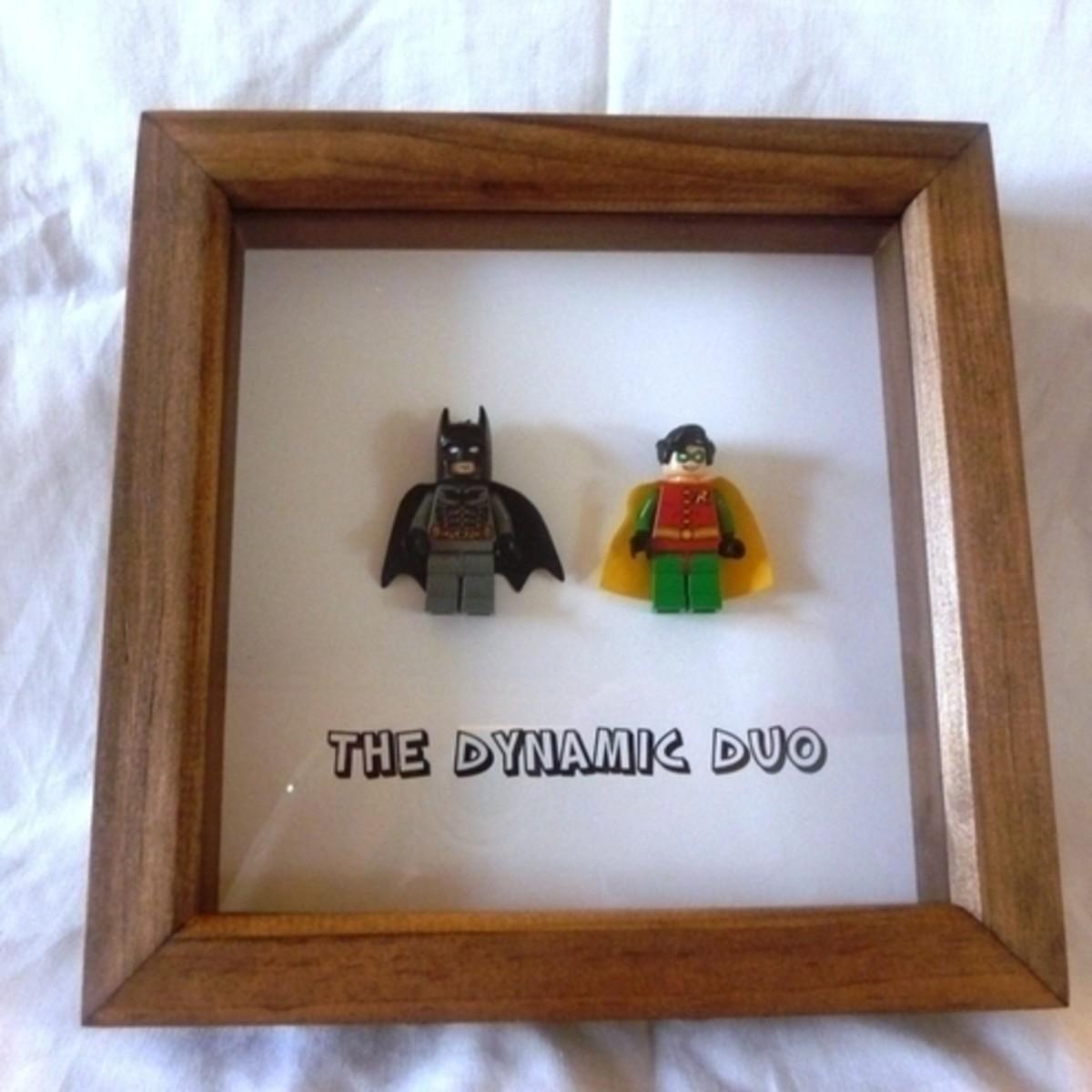 framed lego figures