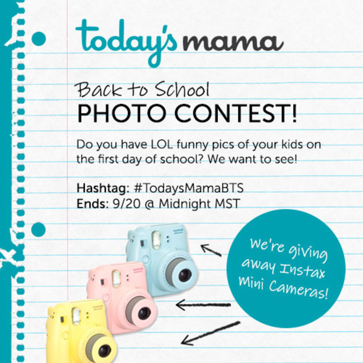Back To School Photo Contest on TodaysMama.com