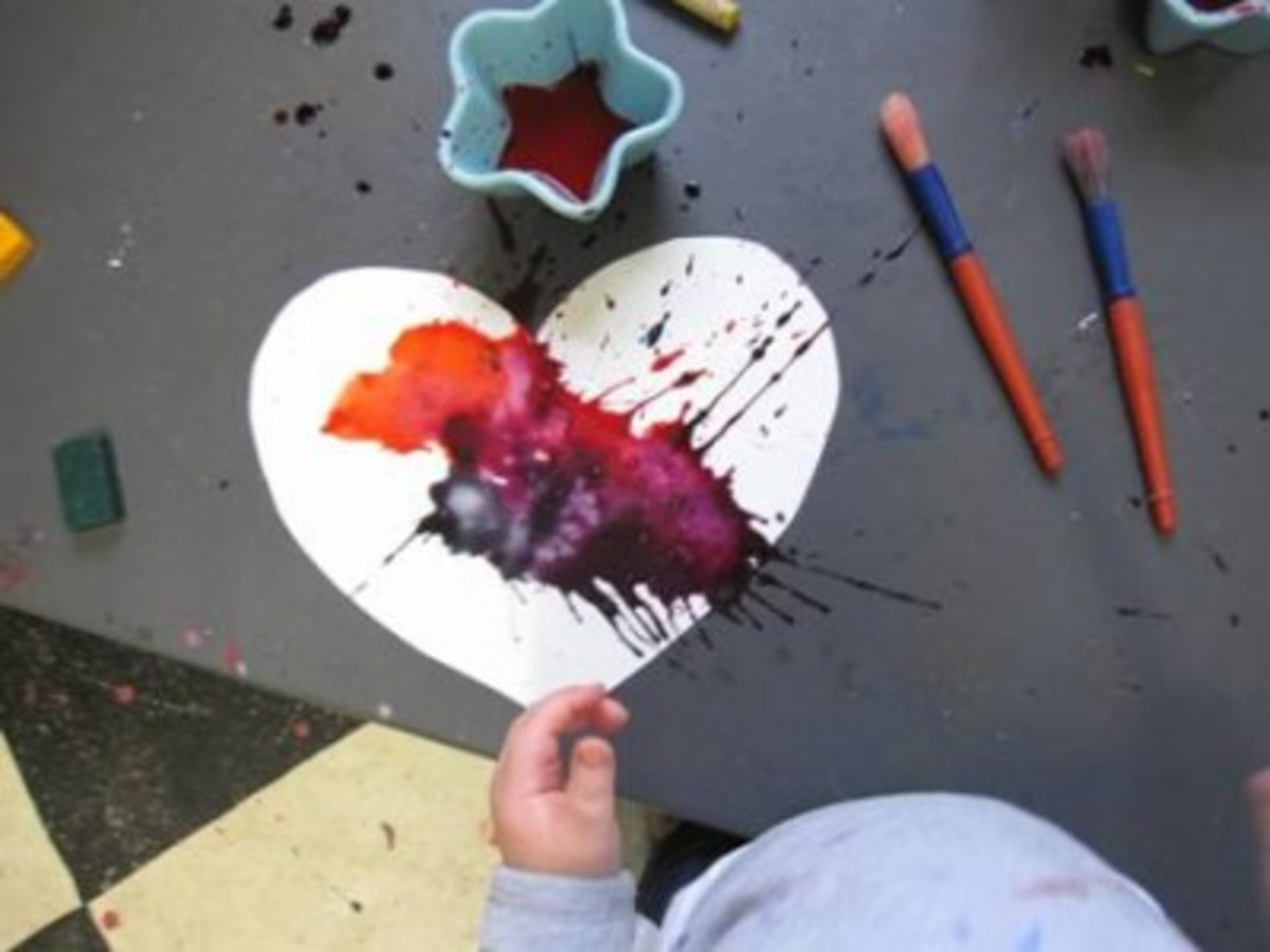 toddler-heart art
