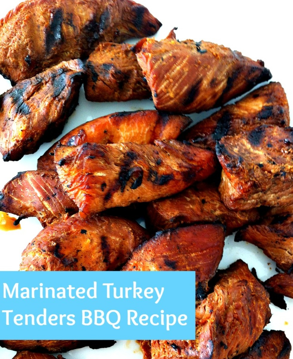 Family Camping - Marinated Turkey Tenders BBQ Recipe