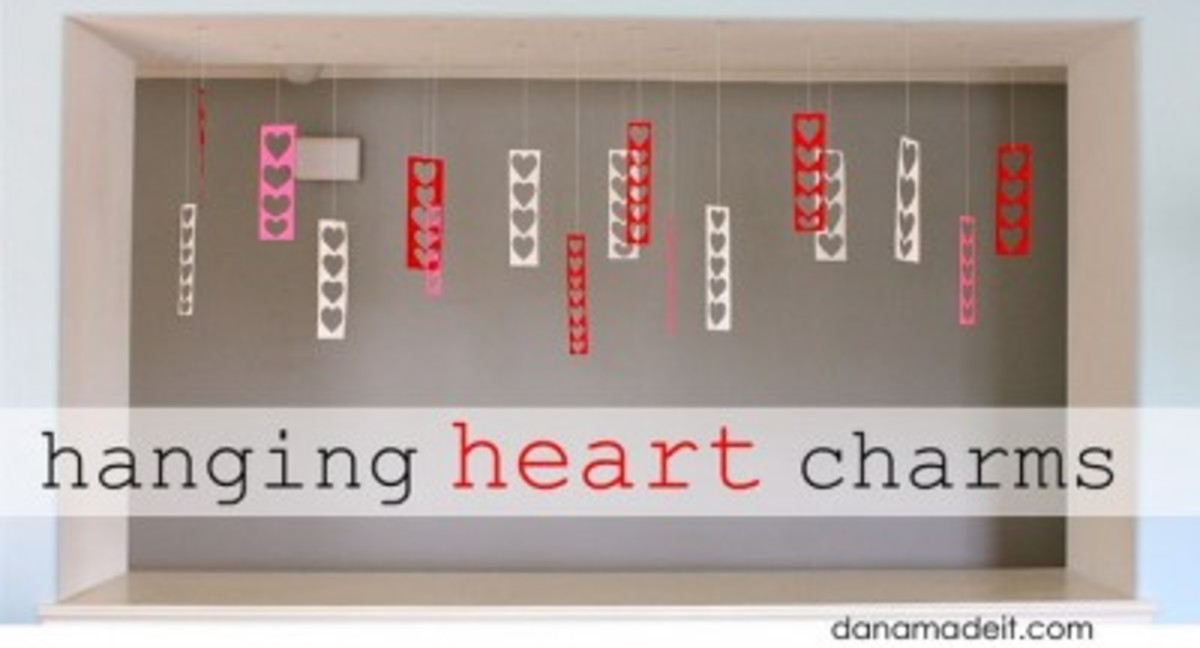 hanging heart charms