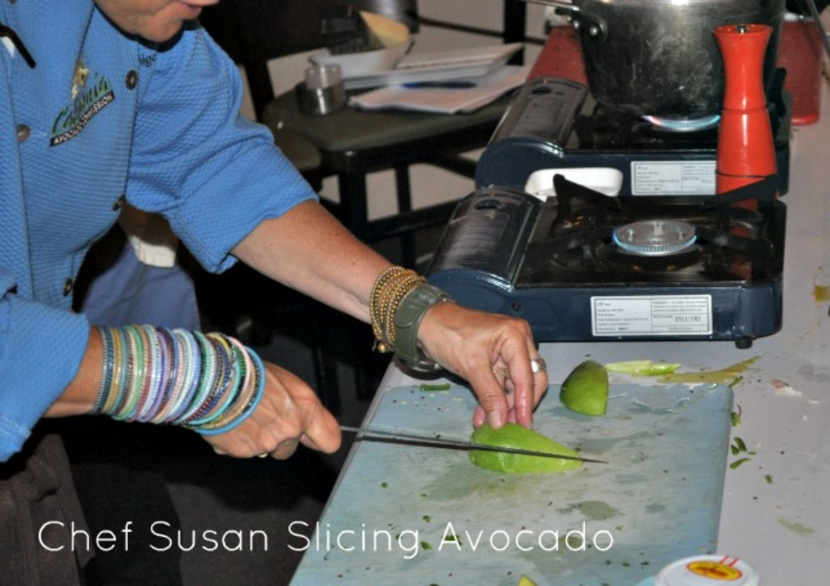 Chef Susan Slicing Avocado