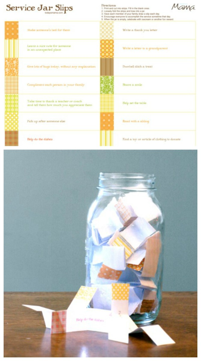 Printable Service Jar Slips