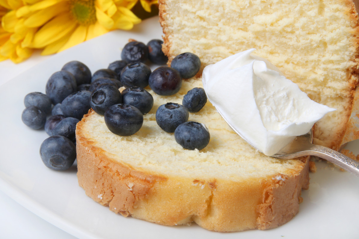 Classic Southern Poundcake (Add whipped cream and blueberries or strawberries - our favorite!}