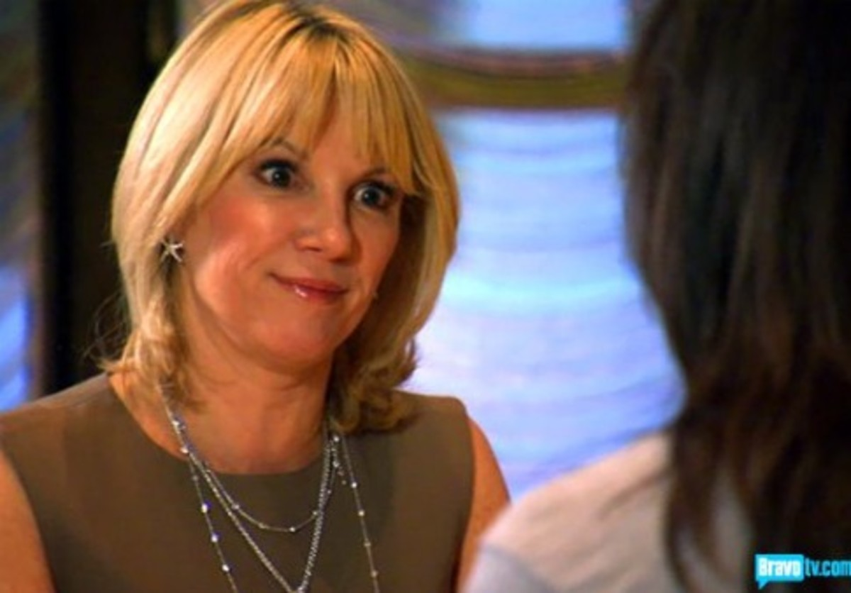 Ramona of The Real Housewives of New York. Homegirl needs to lay off the vino.