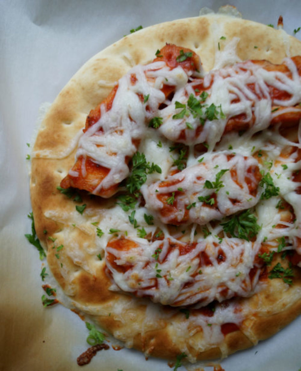 Grilled Chicken Parmesan Flatbread