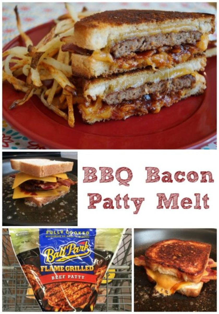 Easy BBQ Bacon Patty Melt