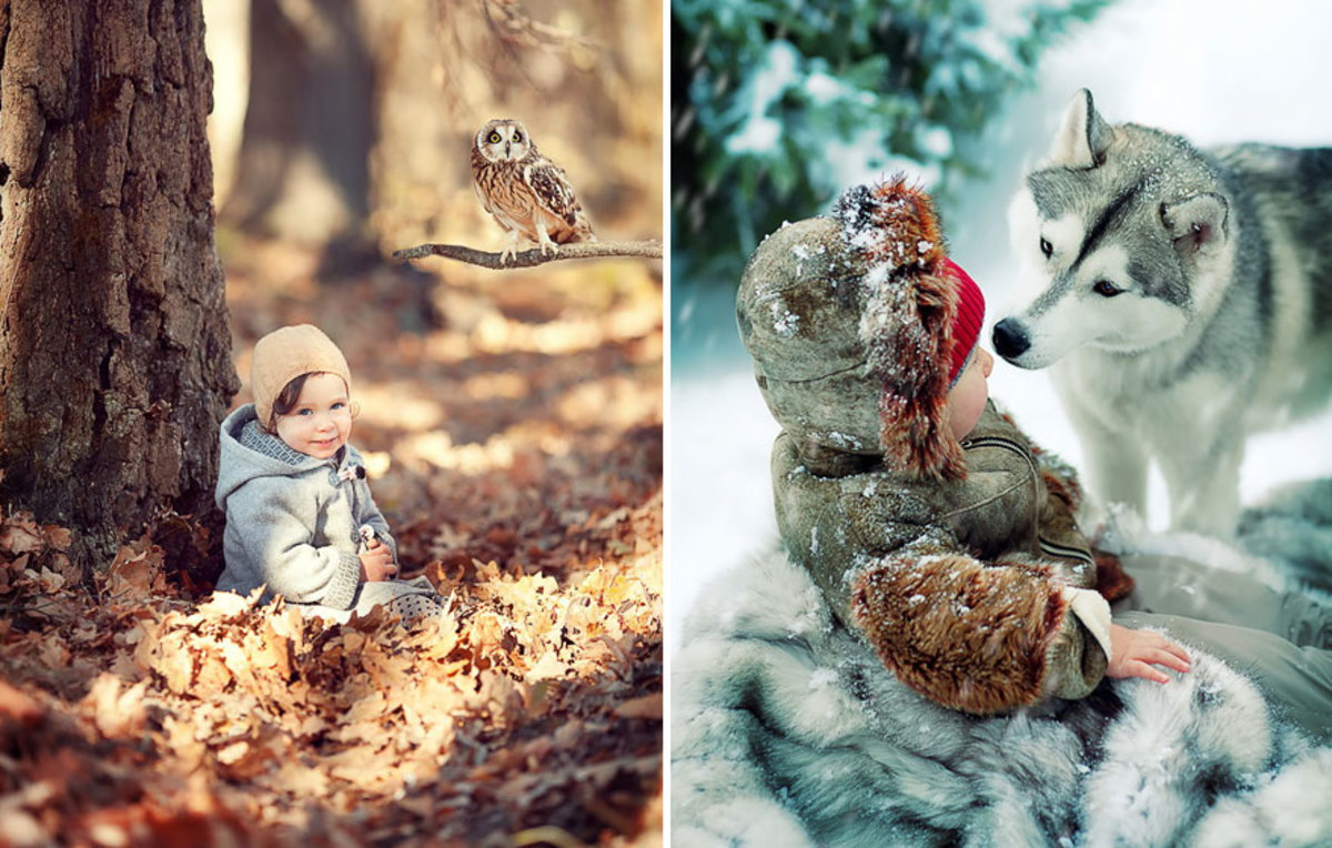 Photography of babies in the woods