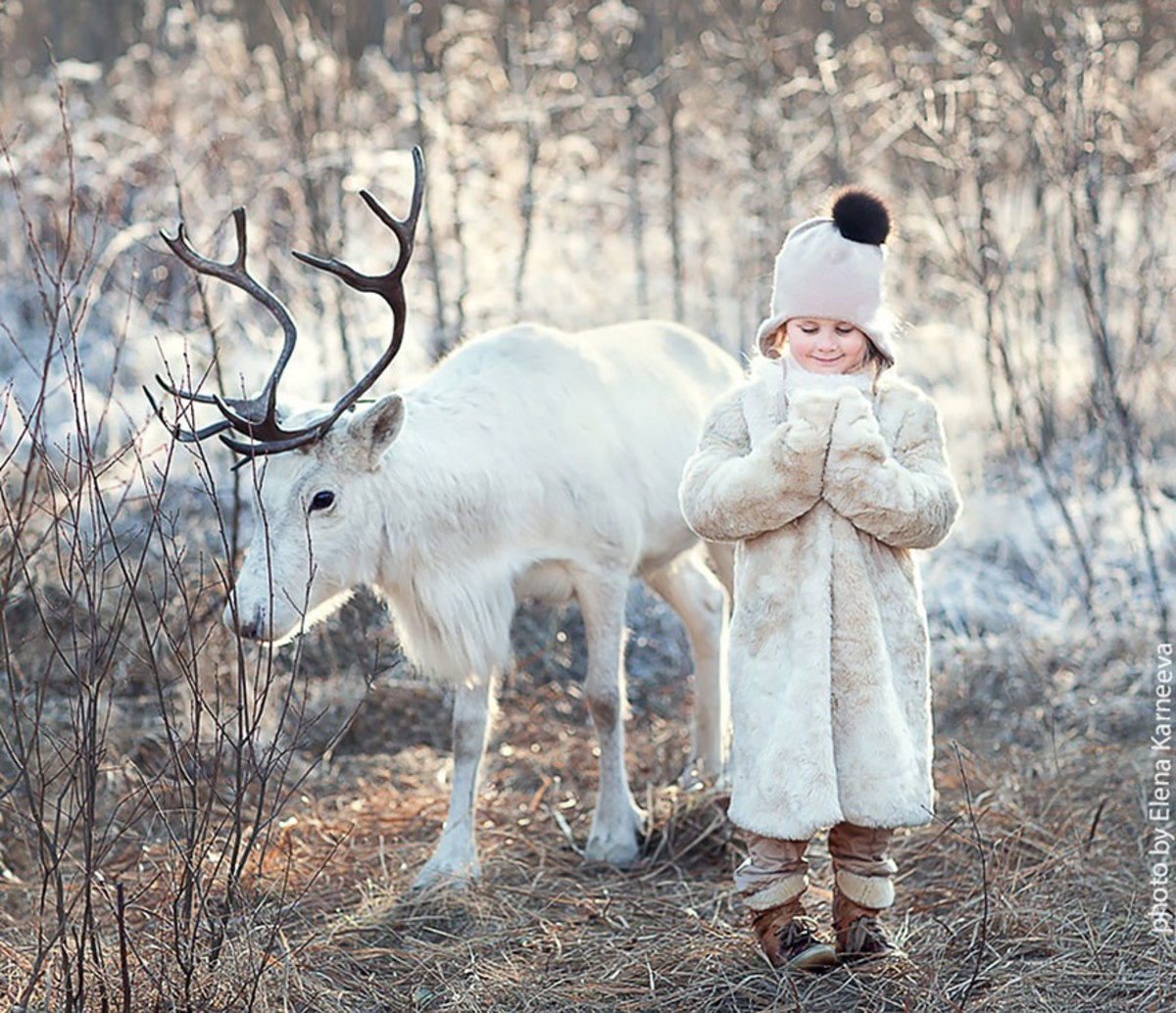 Beautiful portraits of children with animals