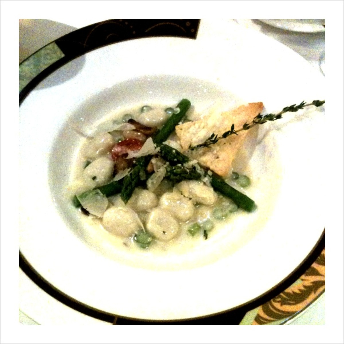 My Palo Dinner: Gnocchi with Asparagus in Gorgonzola Sauce