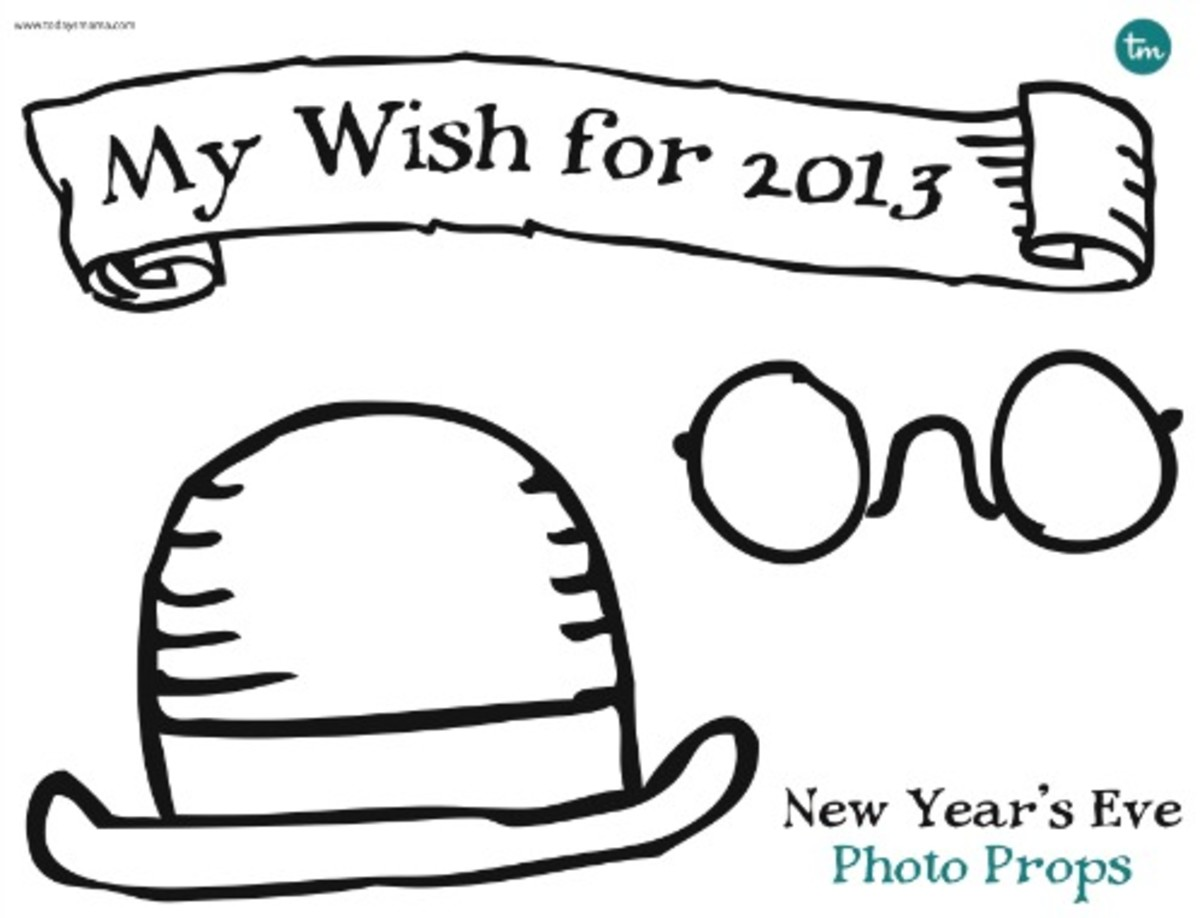 Printable New Year's Eve Photo Props_2