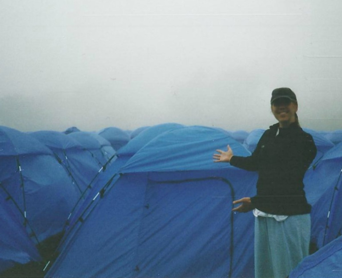 Summer Camping in San Fran in the fog