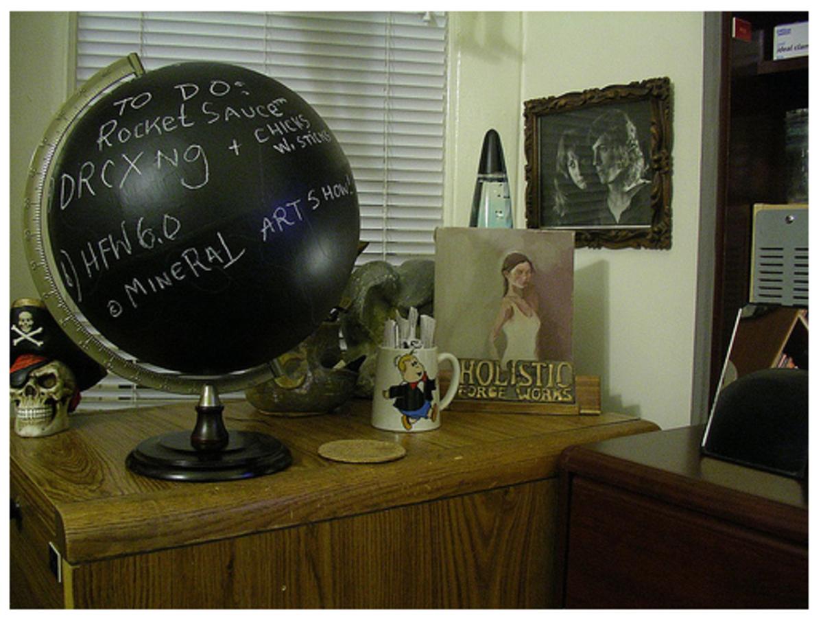 Chalkboard Painted Globe