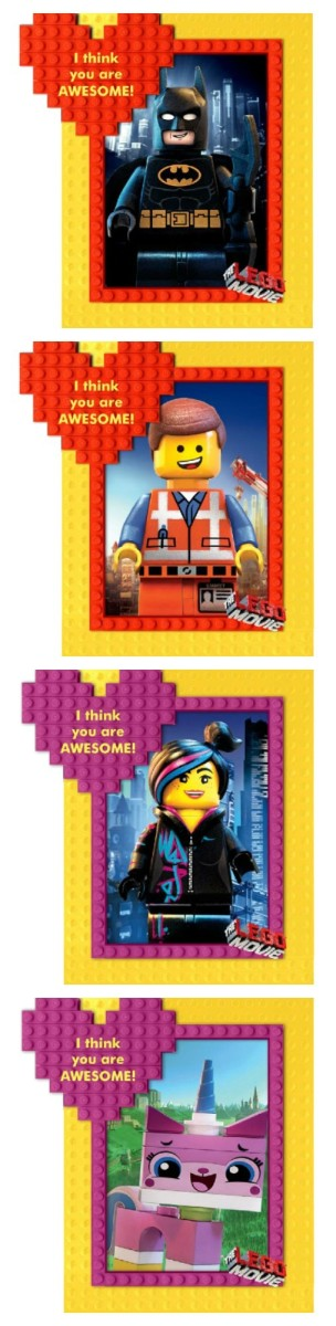 Printable Lego Movie Valentines on TodaysMama.com