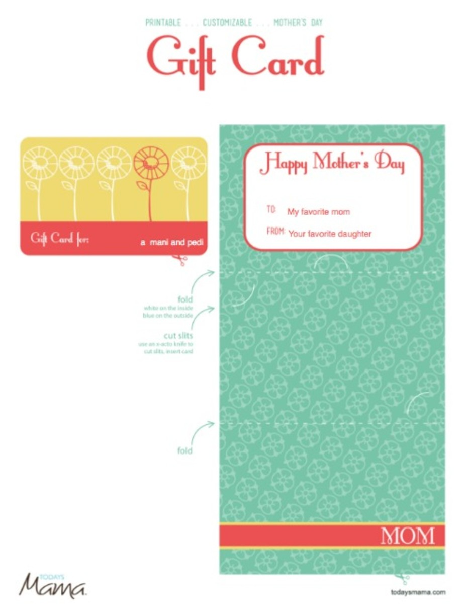 printable mothers day gift card template