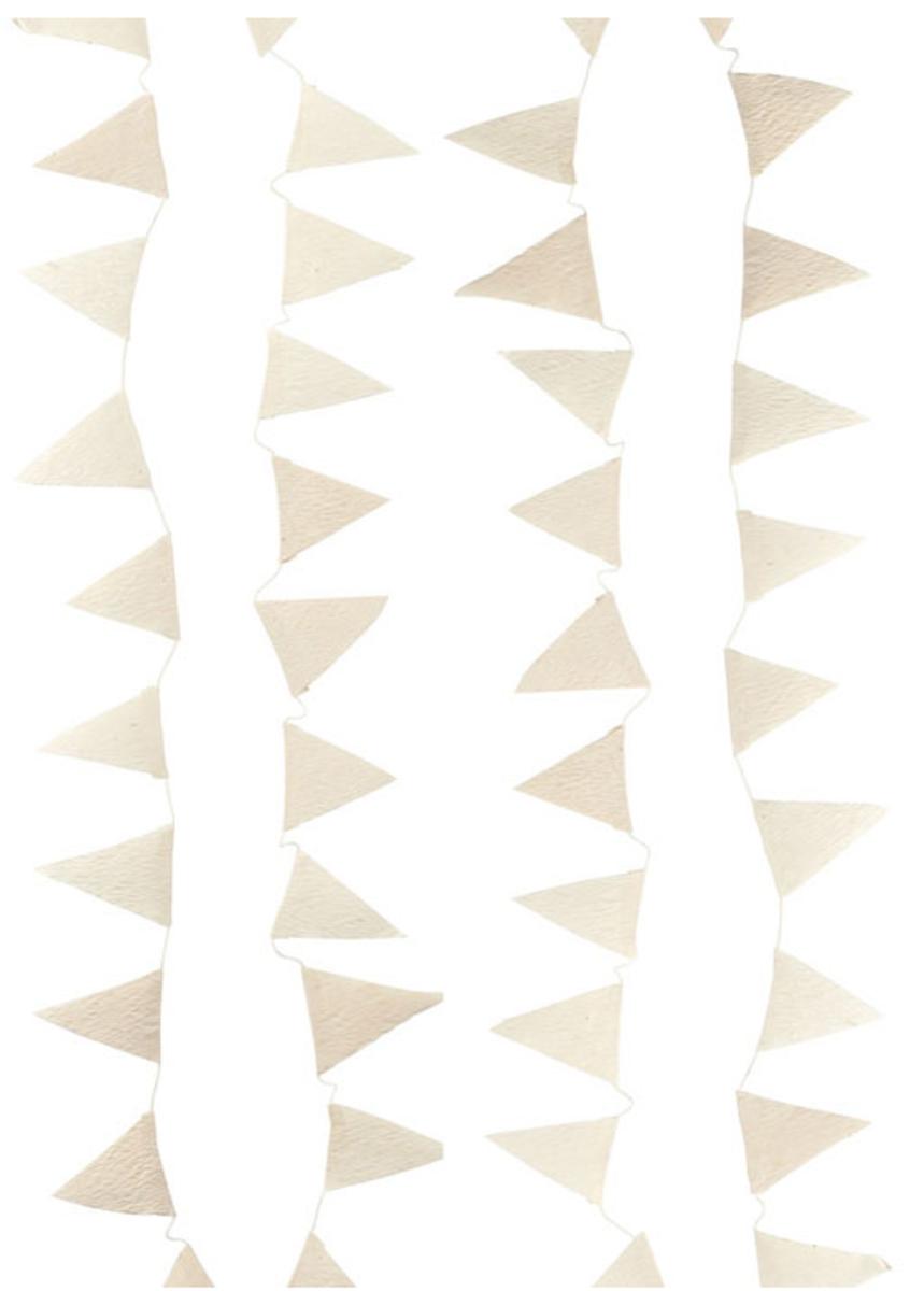Handmade paper bunting garland